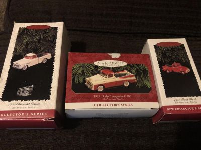 Collectable Car Tree Ornaments (Chevrolet/Dodge/Ford)