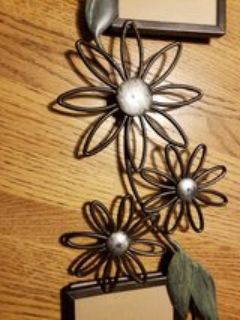 metal floral picture frame
