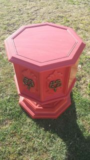 Newly painted 70s side table / cabinet