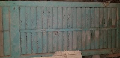 One Old Tall Wooden Shutter