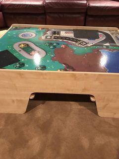 Large car & truck table, has room on all 4 sides for kids to sit and play.