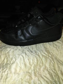 Nike Black Air Force Ones (size 11.5)