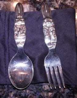 Reed and Barton Silverplate Rabbit Child Flatware