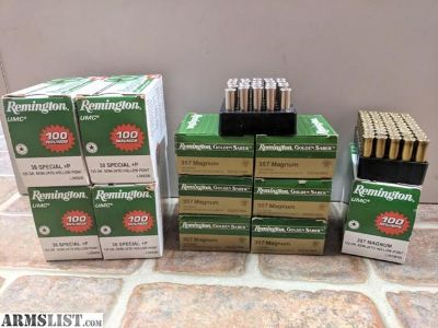 For Sale: 357 and 38 Special +P Ammunition AMMO