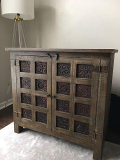 GORGEOUS HAND CARVED WOOD CABINET
