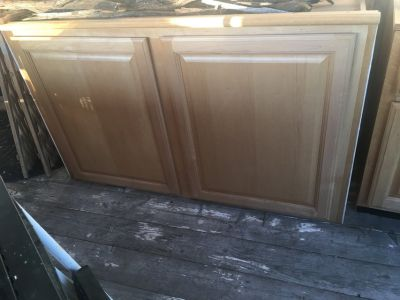 2 top large kitchen cabinets plus