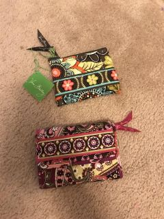 Vera bradly small wallet and coins purse $30 Both
