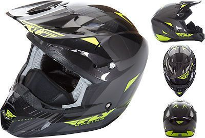 Find Fly Racing Kinetic Pro Hi-Vis Black Cold Weather ATV Offroad Snowmobile Helmet motorcycle in Golden, Colorado, United States, for US $125.96