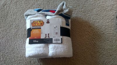 Star war hooded bath wrap