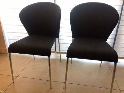 New Modern Dark Gray dining chairs