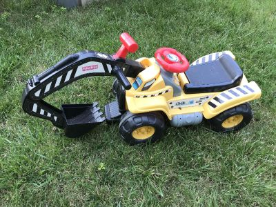 Fisher price digger ride on