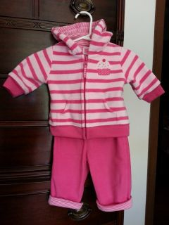 Carter's 3M 2-piece pink hooded jacket and pant set