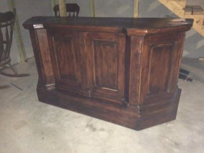 Wood Bar - Solid - 2.5ft deep x 6ft 8 in wide x 3 ft 5 in tall