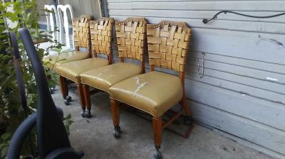 4 Vintage Rolling Chairs $30