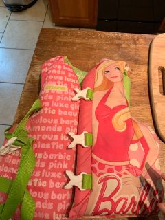 Barbie life jacket $4
