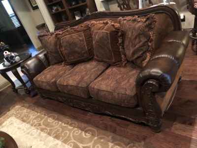 Couch, loveseat, coffee table and end tables