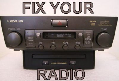 Buy LEXUS CD 6 Disc Changer 6CD Radio * FIX * REPAIR * IS300 LS430 ES300 ES330 RX330 motorcycle in Brentwood, California, United States, for US $149.00