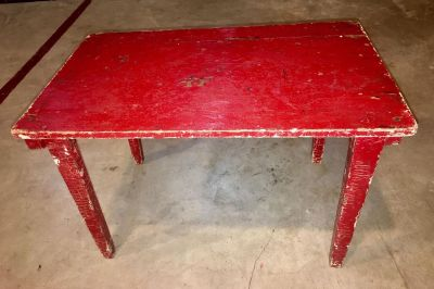 Antique Folding Table / Step Stool