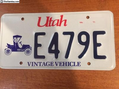 Utah Historical Vintage License plate