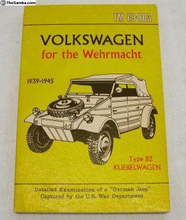 TM E9-803 Type 82 Kubelwagen Manual - 1972