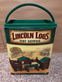 Fort Redwood Lincoln Logs - over 200 pieces!