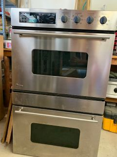 GE MONOGRAM ELECTRIC DOUBLE OVEN, WITH CONVECTION