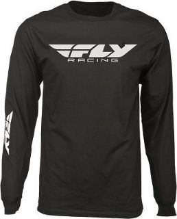 Buy Fly Racing Casual Corporate Logo Men's Black Long Sleeve Tee T-Shirt motorcycle in Golden, Colorado, United States, for US $25.16