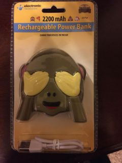Rechargeable power bank. Use your existing cable. Works on smartphones, tablets etc.