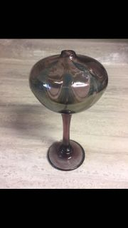 Gorgeous Vintage Canadian Art Glass Oil Lamp by La Mailloche. CP.