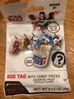 Dog tags with candy