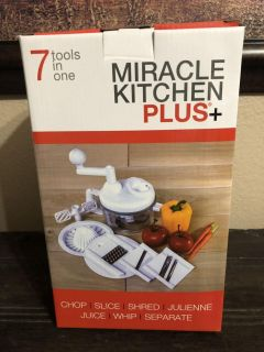 New in box, Miracle Kitchen Plus, perfect gift for the cook in your family! Sells for $60-$70 on amazon. $25!