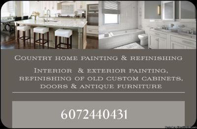 Country home painting & refinishing