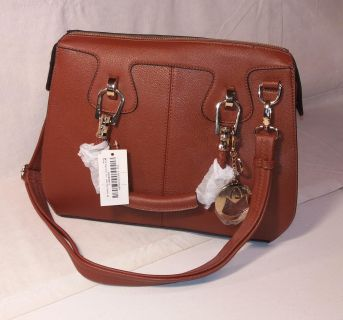 New MG Collection Brown Office Tote Purse Shoulder Bag - Vintage Appeal