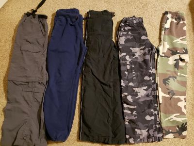 Lot of 5 Boy's Youth Size 10/12 Athletic Pants