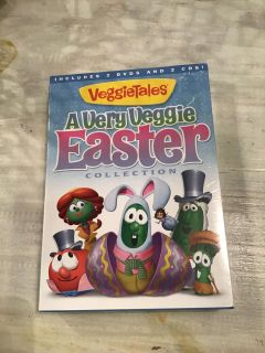 Factory sealed Veggie Takes - A Very Veggie Easter Collection - 2 DVDs and 2 CDs