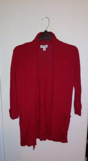 St John's Bay red cardigan size PS