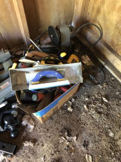 Misc tile and drywall tools - incl mini lathe