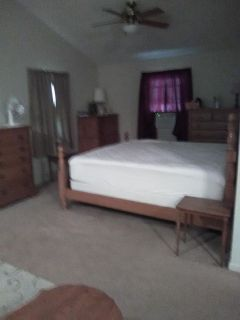 Oak King size bed set