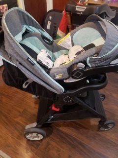 Safety first base stroller and car seat