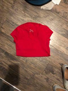 Maternity Thyme red V neck shirt