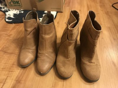 2 size 7 boots see description and pictures $15 for both