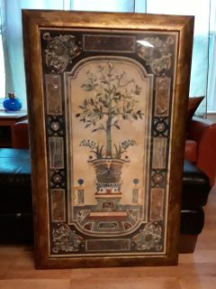 Wall Art Antique Gold Wood framed Art Deco print