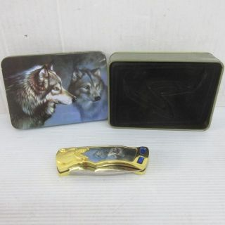 Brand new collectible wolf pocket knife