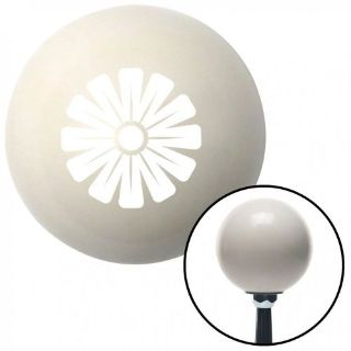 Sell White Hawaiian Flower #1 Ivory Shift Knob with 16mm x 1.5 Insert bbc big block motorcycle in Portland, Oregon, United States, for US $29.97