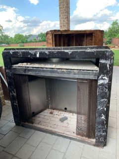"""Fireplace case box/ brick insert  approx  40""""x 22"""" for gas"""