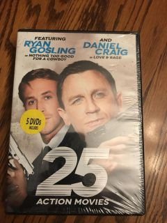 25 Action Movies - 5 DVD SET! Brand New - never been opened! Great guy gift - Item is in original shrink wrap