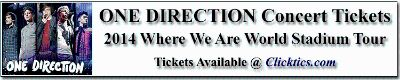 One Direction Concert Tickets 1D WWA Tour New Orleans LA Sept. 25 2014