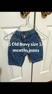 Old Navy size 3/6 months jeans
