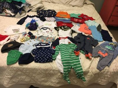 Newborn to 3 month baby boy clothing lot sold together
