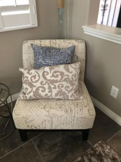 Two decorative chairs